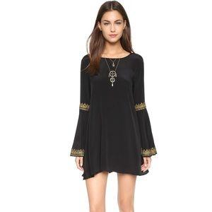 Cleobella Coventry Black Dress Bell Sleeves